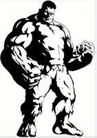 Los Vengadores Wall sticker Marvel & DC avengersthe Hulk dibujos animados anime arte pared del vinilo niños dormitorio decoración del hogar