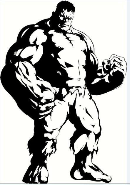 The Advengers Wall Sticker Marvel DC AvengersThe Hulk Anime - Vinyl wall decals avengers