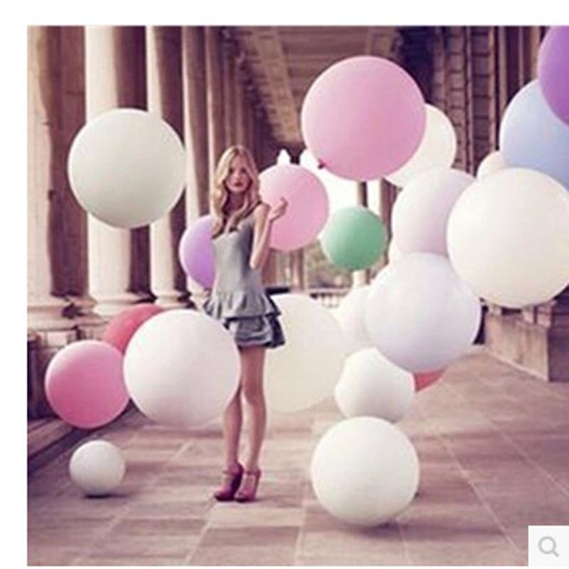 Colorful 36inch 90cm Latex Balloons Inflatable Air Balls for Weeding Party Decorations Kids Birthday Helium Ballon Party Supply
