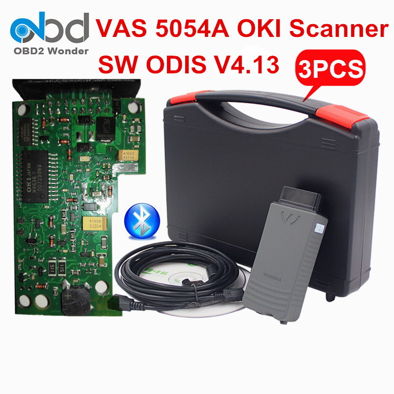 Цена за 3 шт./лот DHL Бесплатная VAS5054 OKI диагностический Интерфейс VAS 5054 ODIS 3.0.3 OBD2 диагностический сканер VAS 5054A OKI Бесплатная активации