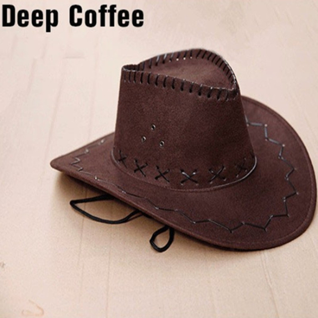 New High quality Autumn Summer Spring Sun Hat Cowboy Hat Men and Women Out  door Caps Fashion Chapeu Straw Cowboy 12 Colors Hats 6e67a5d2af88