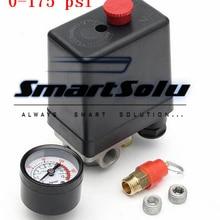 1 шт 0-175 PSI 4-портовый переключатель давления для воздушного компрессора регулирующий клапан 12 бар 240 В 4 порта горячая распродажа