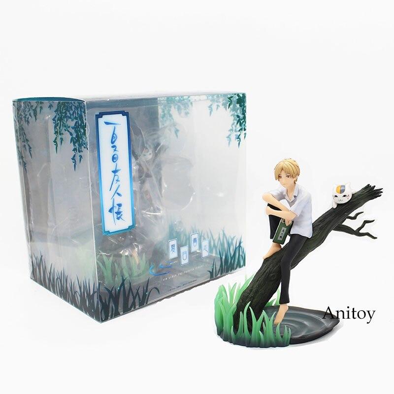 18CM Natsume Yuujinchou with Nyanko Sensei PVC Action Figure Model  Anime Toy NYFG004 18cm japanese anime natsume yuujinchou takashi natsume with nyanko sensei pvc action figure model collection toy gift