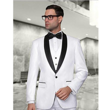 groom wedding suits men tuxedo white custom made suit for man 2017 fashion 2017 dress beach formal wear high quality