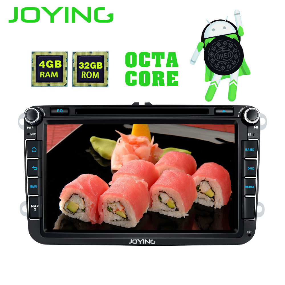 JOYING Android 8 Core Auto HD DVD Player Radio 4 gb di RAM GPS Stereo per VW Volkswagen SKODA GOLF 5/6 POLO PASSAT B5 B6 JETTA TIGUAN