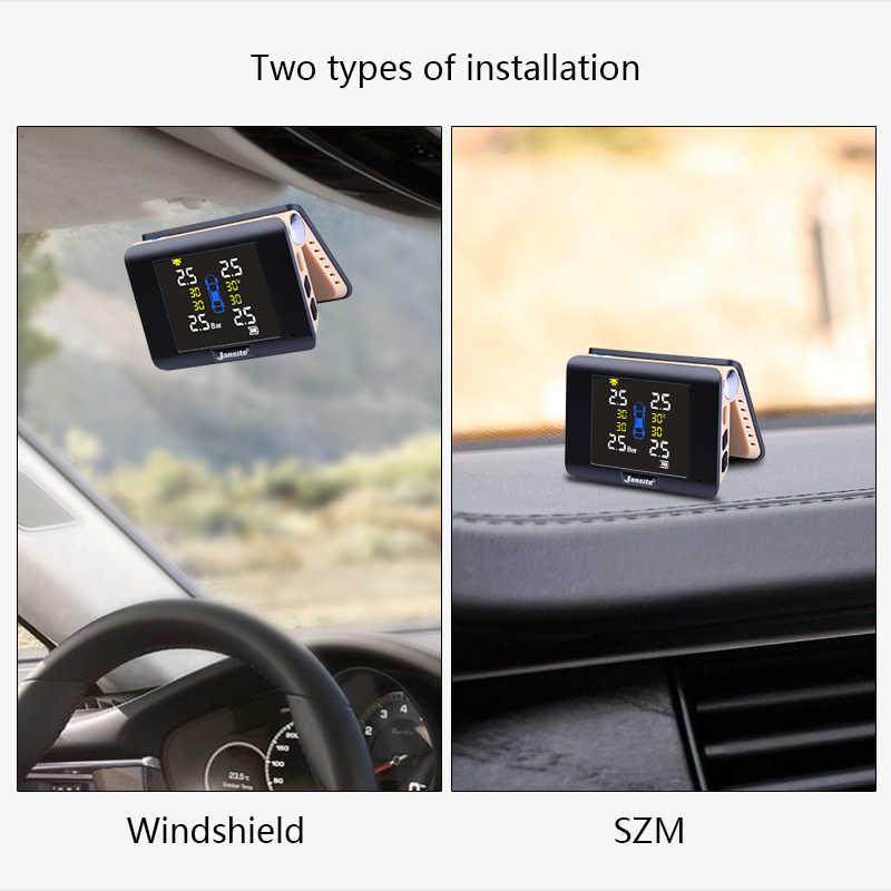 Jansite беспроводное оборудование для мониторинга давления в шинах автомобиля интеллектуальная система светодиодный дисплей солнечной энергии с 4 встроенными или внешними датчиками
