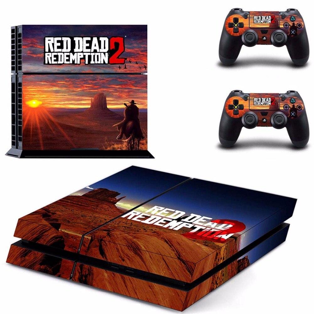 Red Dead Redemption 2 PS4 Pelle Sticker Adesivi per Sony PS4 PlayStation 4 e 2 Controllori Skins