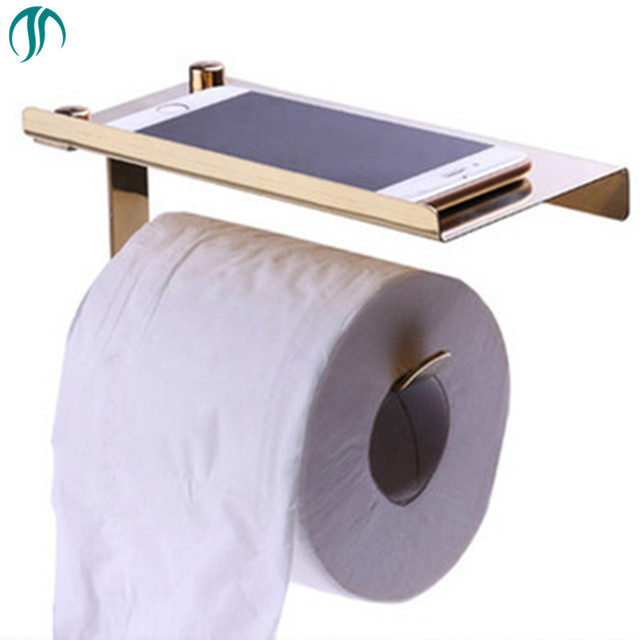 Multifunction Toilet Roll Holder Wall Mounted Tissue Bathroom For Paper Towels Stainless