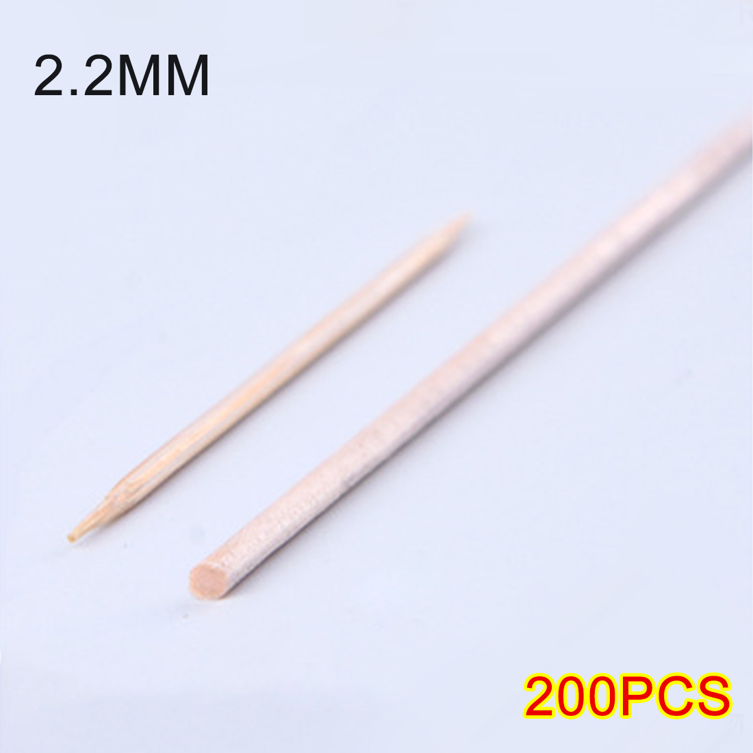 200Pcs 14.8cm(L) 2.2mm(D) Birch Wooden Stick For DIY Sand Table Layout Architecture Model