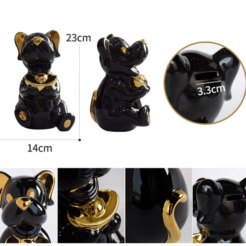 Personalità Creativa di Cane Scarpe a Forma di Lingotto D'oro Imitazione Cute Dog Armadio Soggiorno Ornamento Famiglia Decorativo Artigianato di Ceramica - 6