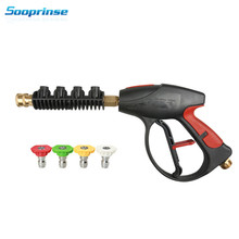 High Pressure Washer Water Foam Gun Wand Tips Pistol Short Gun foam Lance Nozzle 4 Quick connect Nozzle 4000 PSI 2020 New