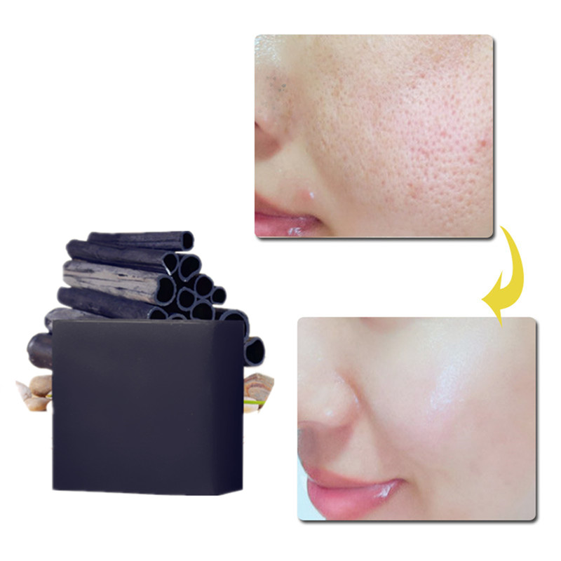 Pore Cleaning Whitening Handmade Soap Concealer Nature Bamboo Charcoal Nutrition Moisturizing Beauty Soap Whitening Oil Control