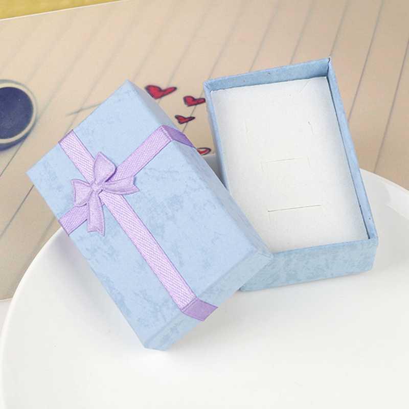 Модная красочная 1 шт. новая коробочка для драгоценностей коробка футляр для хранения колец милая коробочка маленькая Подарочная коробка для колец Серьги