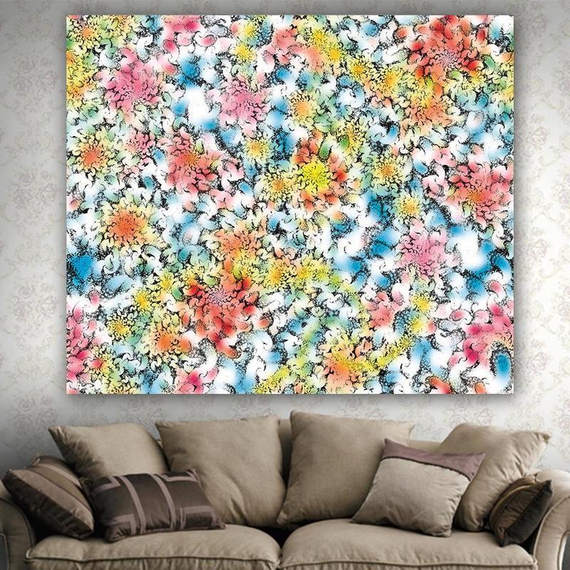 Flor tapiz Mandala tapicería Sala decoración pared colgante decoración del hogar estera de la playa