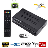 HD Digital DVB S2 S Satellite Internet IPTV APP Combo Receiver Set Top BOX Support M3u