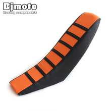 BJMOTO Motocross Rubber Gripper Soft Seat Cover For KTM SX XC EXC XC-W SX-F 85 105 125 150 200 250 300 350 450 motorcycle rubber gripper soft seat cover for kawasaki kx85 kx100 01 02 03 04 05 06 07 08 09 10 11 12 13 14 15 16 2001 2016