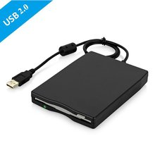 3.55 Portable USB External Floppy Disk Drive 1.44 MB FDD SB Floppy Drive CD Emulators No Extra Driver Required,Plug and Play