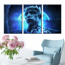 3 Piece Dragon Night King Game of Thrones Season 8 Movie Poster Paintings A Song Ice and Fire for Wall Decor