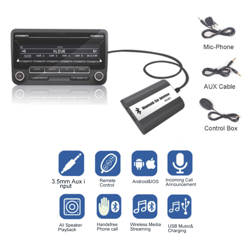 Wholesale ! Bluetooth A2DP Car MP3 Adapter AUX USB Music Charging Car Kit For Mazda 2 3 5 CX7 RX8 MPV Car Stereo Radio Interface