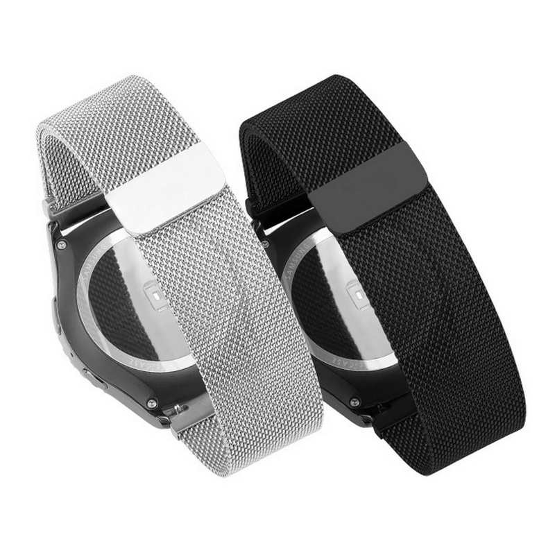 2017 New Stainless Steel Bracelet Strap Watch Band Milanese  magnetic With Connector Adapter For Samsung Gear S2 Watch Band 2017 new stainless steel bracelet strap watch band milanese magnetic with connector adapter for samsung gear s2 watch band