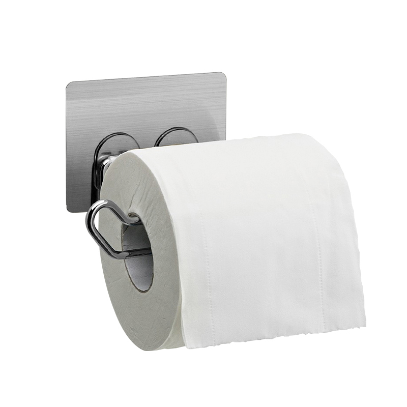 Non trace Stick Bathroom Toilet Paper Roll Holder Towel Storage ...