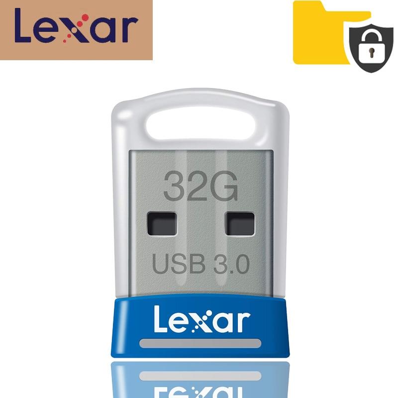 100% Original Lexar USB 3.0 flash drive JumpDrive S45 32GB pen drive high speed 150MB/s Mini cle car usb stick pendrive animado-in USB Flash Drives from Computer & Office