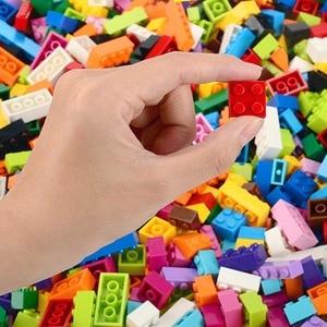 Image 2 - Blocs de construction colorés pour enfants, jouets créatifs, figurines pour enfants, filles et garçons, cadeaux de noël, 250 à 1000 pièces