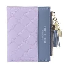 2019 New Wallet Women Tassel Coin Bag Leather Lady Simple Bifold Small Handbag Purse