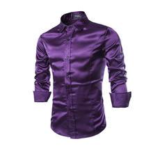 New Men's Shirts Tuxedo Shirts Slim Fit Long Sleeve Wedding Casual Cool Bright Shirts Tops Stylish Hot 0759