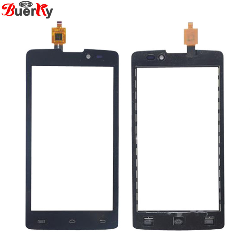 BKparts 5pcs Touch screen For Fly IQ4402 Era style 1 Touchscreen front glass panel Digitizer Replacement with free shipping