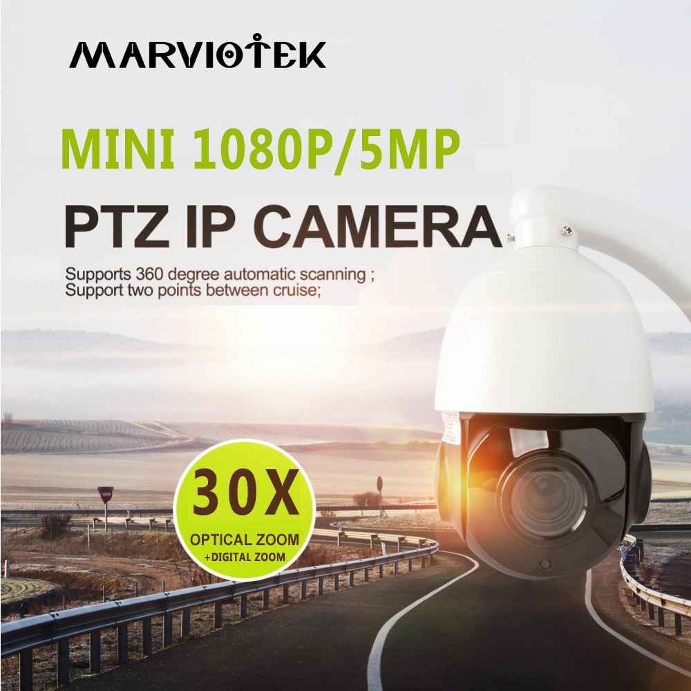 все цены на 5MP Mini IP Camera PTZ Outdoor 30X ZOOM Waterproof PTZ Mini Speed Dome Camera P2P Home Security CCTV Camera night vision Onvif онлайн