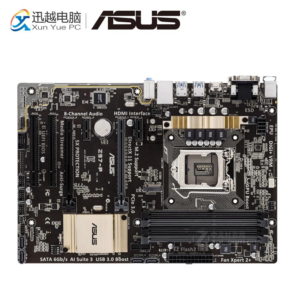 Asus Z97-P Desktop Motherboard Z97 Socket LGA 1150 i7 i5 i3 DDR3 32G SATA3 USB3.0 ATX asus z97 a usb3 1 original used desktop motherboard z97 a usb3 1 z97 socket lga 1150 i7 i5 i3 ddr3 32g sata3 usb3 0 atx