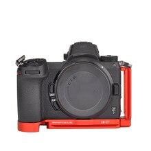 Support en L de couleur rouge, plaque de dégagement rapide pour appareils photo Nikon Z7 Z6, plaque verticale, poignée de main Compatible RRS Arca swiss