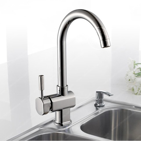 New modern kitchen Chromed single lever kitchen tap brass hot and cold water kitchen faucets mixer