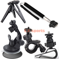 Stick Pole Tripod Car Suction Cup Visor Mount Kit for Sony AS200V AS100V AS10 AS20 ION Air Pro Midland Sports Action Camera