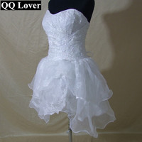 Western Style High Low Corset Bodice Beach Wedding Dress Lady Organza Fold Sweetheart Sexy Bridal Dress