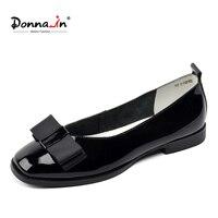 Donna in Brand Ballerina Woman Genuine Leather Flat Shoes Slip on Low Heels Casual Female Shoe Moccasins Footwear Shoe Ladies