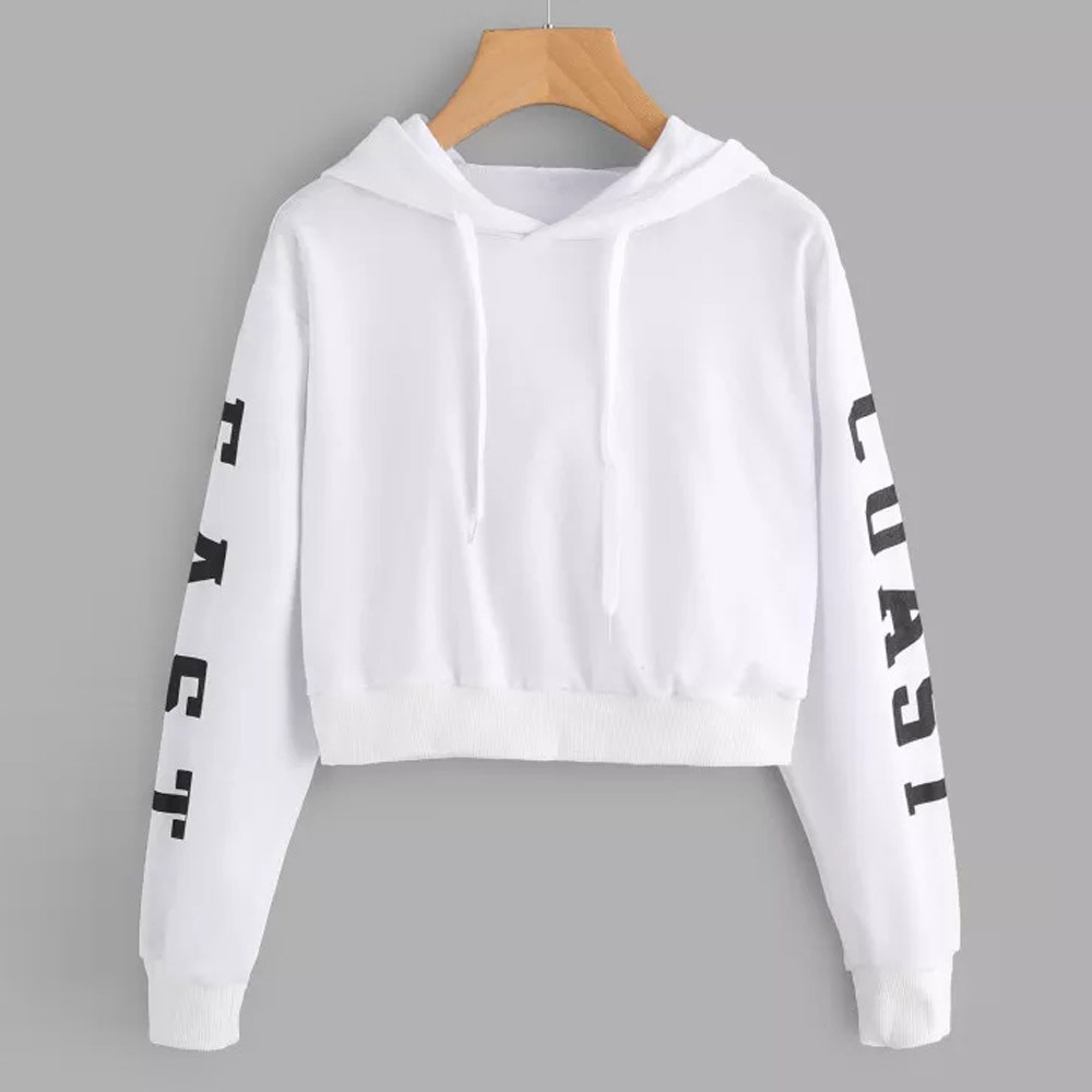 KANCOOLD Top Sweatshirts Women Letters Long Sleeve Hoodie Sweatshirt Pullover Tops Causal high quality sweatshirt women 18DEC6 13