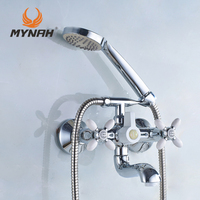 Russia Free Shipping Classic Shower Faucet Bathroom Faucet Dual Control Multi Color Selection