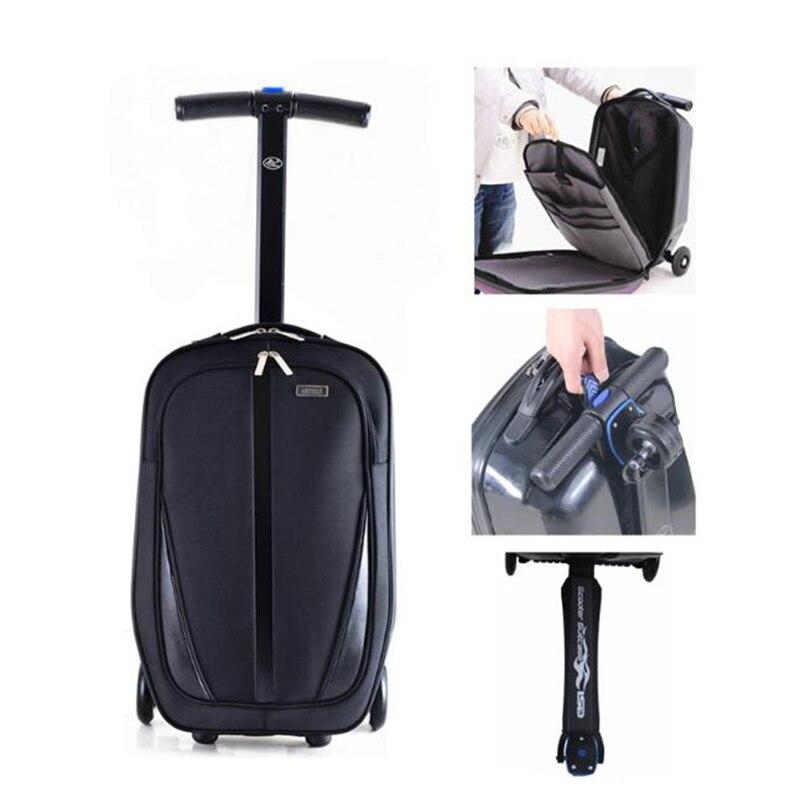 Carrylove deskorolka torba podróżna skuter walizka podróżna nastoletnich kabiny wózek na bagaż na kółkach w Walizka na kółkach od Bagaże i torby na  Grupa 2