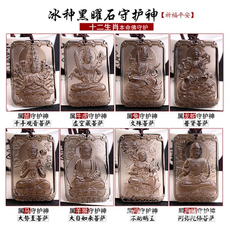 Livraison directe 2019 hommes pendentif collier chine 12 zodiaque huit Patron Saint bouddha pendentif pour les bijoux de mode des femmes
