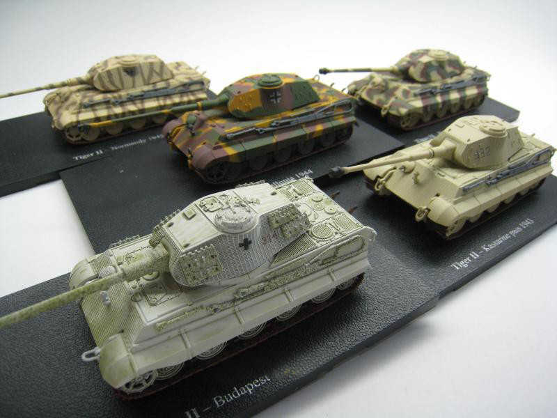 1//72th Diecast WWII German Tiger II-Normandy 1945 Tank Military Model