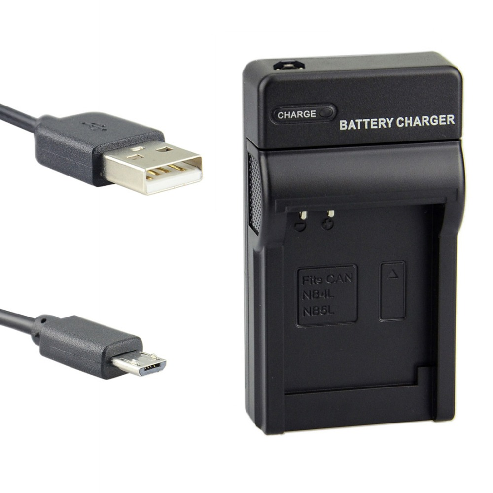 DSTE UDC22 USB Port Charger Adapter for Canon NB-4L NB-5L Battery IXUS 40 30 50 55 60 SX200 SX210 IS Camera
