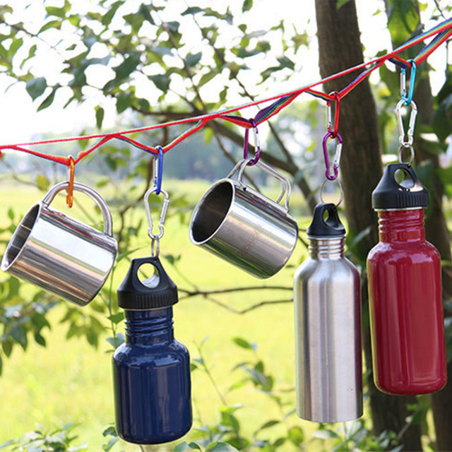 187*20mm Pratical Colorful Outdoor Tent Camping Decoration Hanging Lights Lanyard Double Clothesline Color Ribbon Pouch