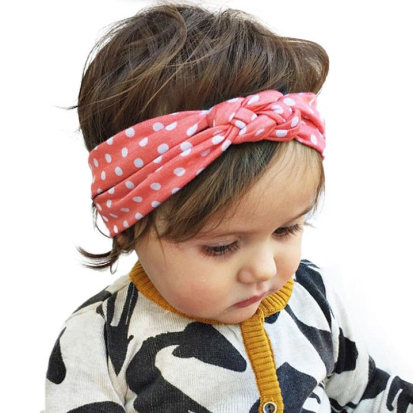 все цены на Hot selling Dot Cross Children Weave Twist Headband Baby Hair Accessories Lowest Price sandalia infantil baby girl headbands