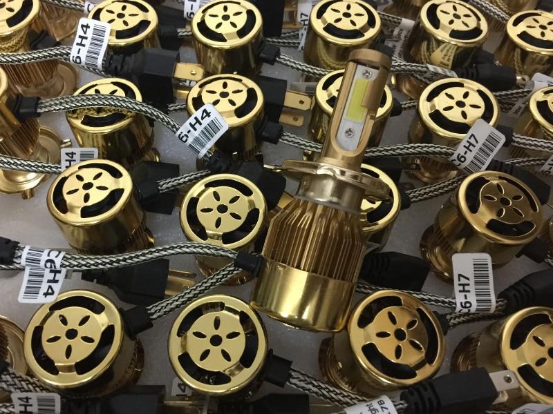 YY H4 H11 H1 H3 H7 9005 9006 C6 Bil LED Forlygtepærer Kit Super - Billygter - Foto 2
