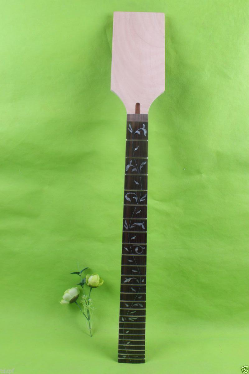 New electric guitar neck maple Fretboard 24 fret 25.5'' nice inlay #1755 new electric guitar neck maple 24 fret 25 5 truss rod unfinished no frets nice
