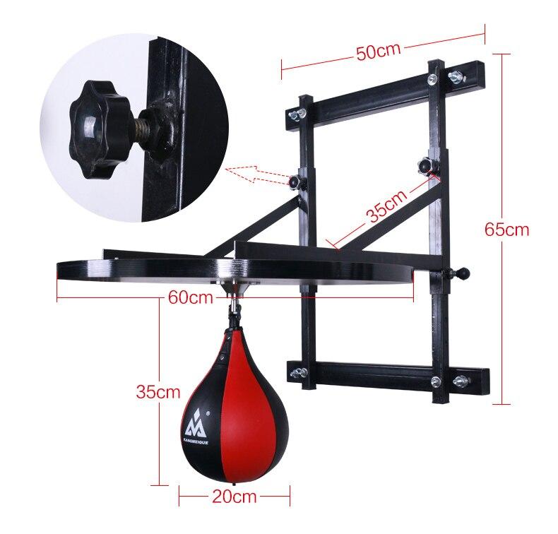 Boule de boxe professionnelle réglable pendaison vent speedball pendaison boule de poires avec support + plaque