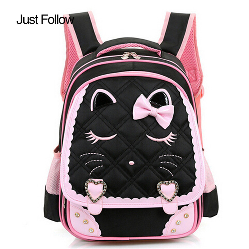 2017 New Girls School Bags Children Backpack Orthopedic Princess Schoolbags Primary Bookbag Mochila Infantil sac a