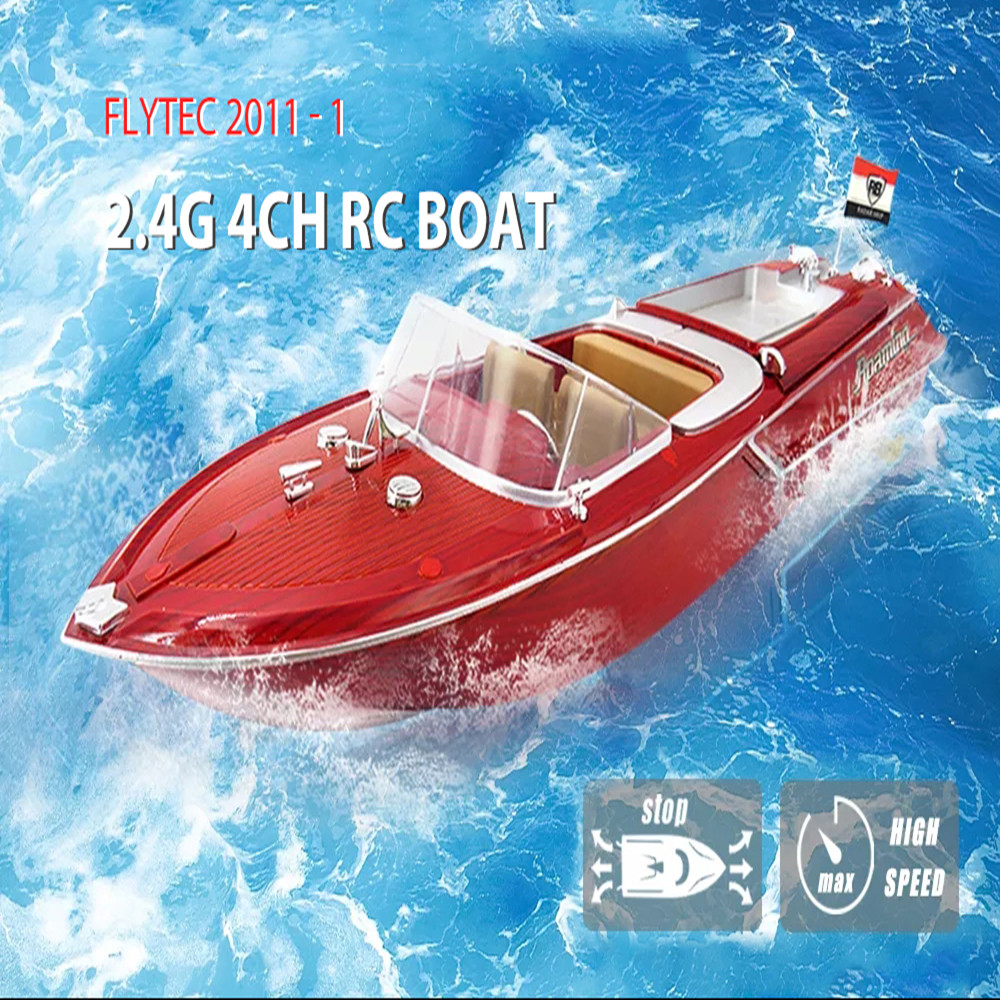 Flytec 2011-1 Large High Speed 4CH Simulation RC Speed Boat Yacht Sailing Airship Kids Model Toys Waterproof Electric RC Boat